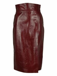 Gucci Front Slit High-waisted Skirt