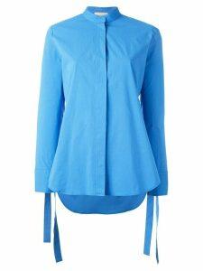 Erika Cavallini strings plain shirt - Blue