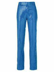 MSGM sequin embellished trousers - Blue
