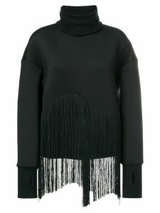 Ioana Ciolacu fringed high neck jumper - Black