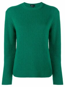 Cashmere In Love cashmere perforated pattern jumper - Green