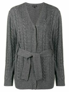 Cashmere In Love cashmere blend cable knit cardigan - Grey