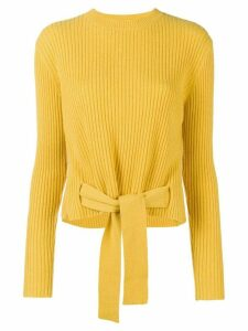 Cashmere In Love cashmere tie waist jumper - Yellow