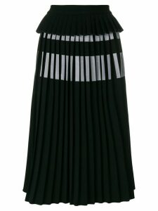 Ioana Ciolacu pleated midi skirt - Black