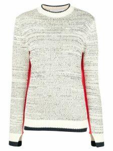 Victoria Victoria Beckham contrast trim sweater - White