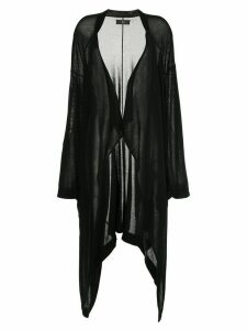 Y's long draped cardigan - Black
