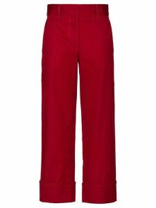 Prada straight-leg trousers - Red