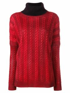 Avant Toi turtleneck sweater - Red