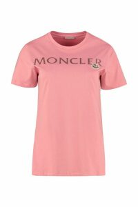 Moncler Logo Print Cotton T-shirt