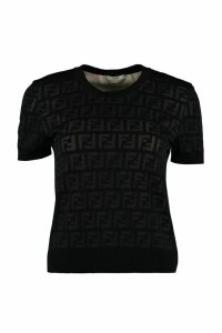 Fendi Knitted Cotton T-shirt