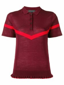 Cashmere In Love Jean knitted polo shirt - Red