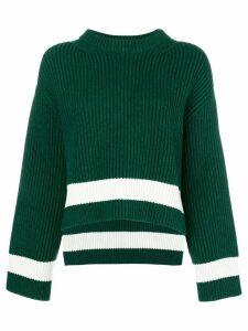 Alexander McQueen ribbed knit jumper - Green