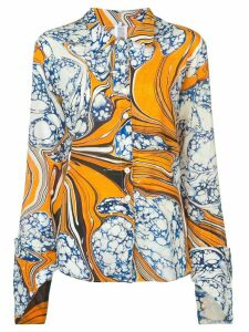 Rosie Assoulin printed shirt - Yellow