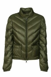 Moncler Quilted Side Buttoned Pocket Zip Jacket