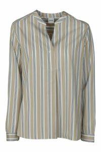 Aspesi Stripe Print Round-collar Shirt