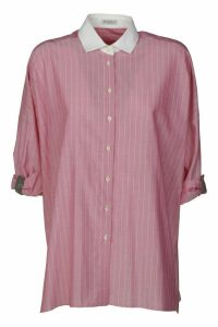 Brunello Cucinelli Stripe Oversized Shirt