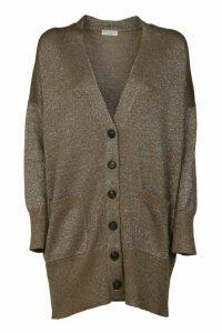 Brunello Cucinelli Glittery Classic Mid-length Cardigan