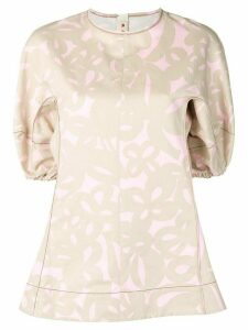 Marni printed blouse - NEUTRALS