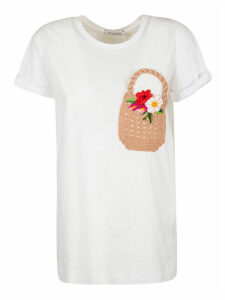 Vivetta Knitted Patch T-shirt