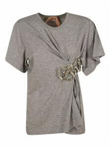 N.21 Bow Detail Draped T-shirt