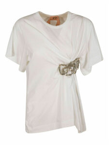 N.21 Bow Detail Draped T-shirt