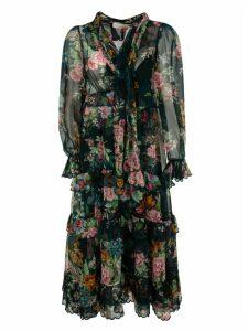 Zimmermann Long Length Floral Print Dress