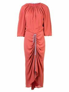 Bianca Spender Madeline drawstring dress - Red