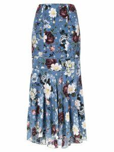 Erdem floral print maxi skirt - Blue