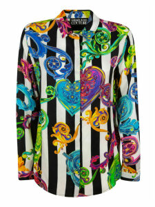 Versace Jeans Couture Twill Gioielli Print Stripes Shirt