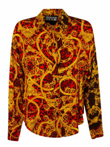 Versace Jeans Couture Leopard Detail Print All-over Shirt