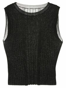 Dion Lee Opacity pleated top - Black