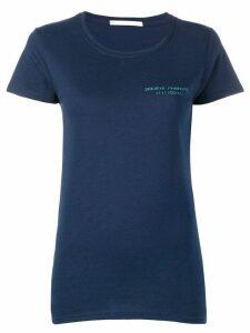 Société Anonyme brand crest T-shirt - Blue