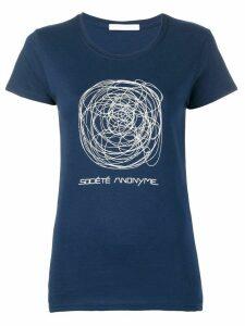 Société Anonyme scribble T-shirt - Blue