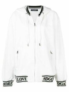 Dolce & Gabbana logo detail hoodie - White