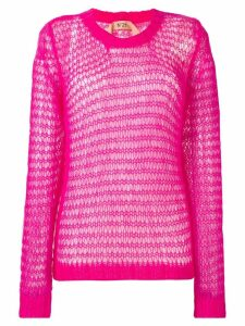 Nº21 oversized layered sweater and vest - PINK