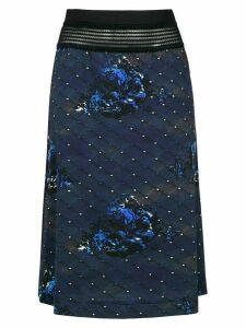 À La Garçonne Night midi skirt - Blue