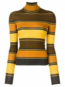 Acne Studios striped turtleneck sweater - Brown