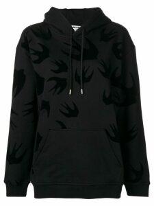 McQ Alexander McQueen bird print hoodie - Black