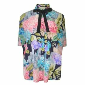Gucci Floral Bow Tie Shirt