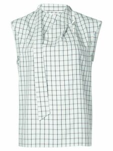 Tibi Elliot checked top - Green