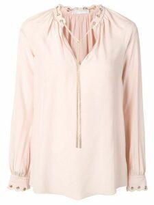 Michael Michael Kors chain link blouse - PINK