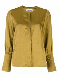 Partow concealed front blouse - GOLD