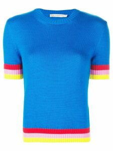 Mary Katrantzou Dua knitted top - Blue