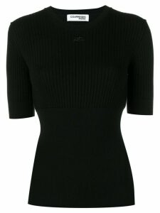 Courrèges knitted top - Black