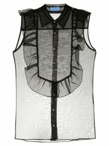 Macgraw Bonnie sleeveless sheer blouse - Black