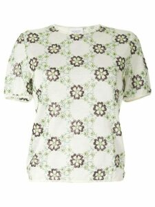Giambattista Valli floral short-sleeve top - Multicolour