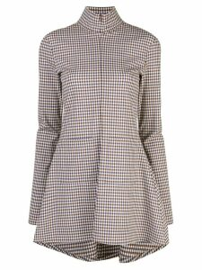 Rosie Assoulin zipped plaid blouse - Multicolour