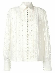 Zimmermann lace patterned blouse - NEUTRALS