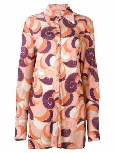 Adriana Degreas long printed shirt - PINK