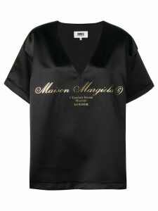 Mm6 Maison Margiela oversized logo T-shirt - Black